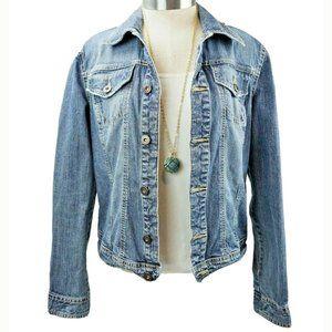 Tommy Hilfiger Womens  Blue Denim Jean Jacket SM